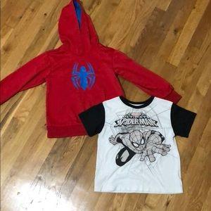 Size 5 spider man bundle